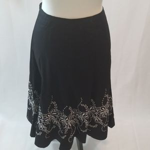 Allison Taylor Black and White Skirt Size 12